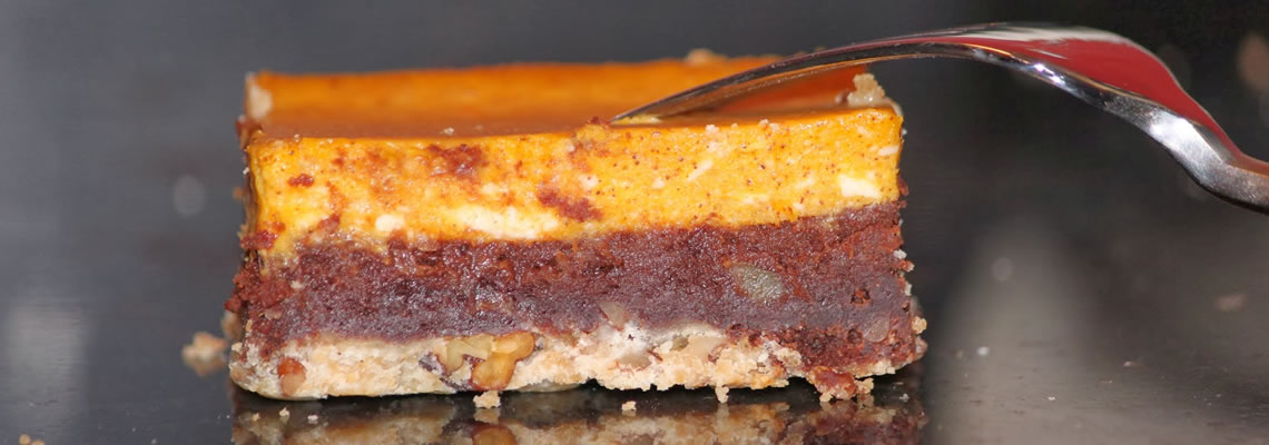 Squash Cheesecake Brownie Bars