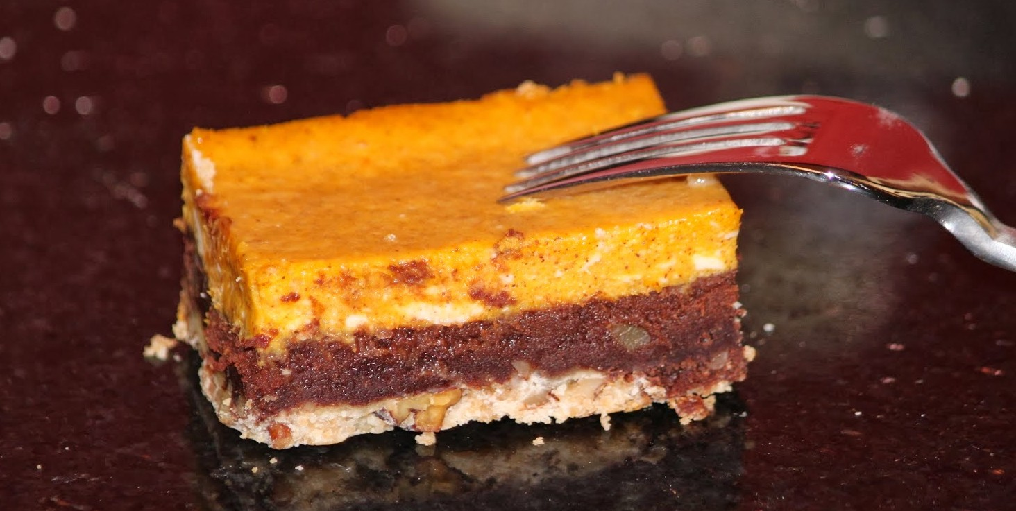 Squash Cheesecake Brownie Bar
