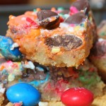 M & M Birthday Cake Magic Bars