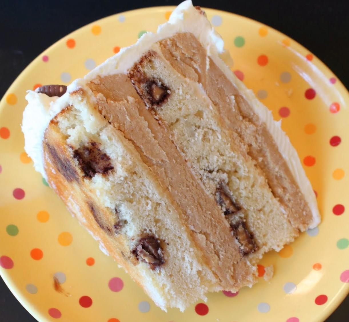 Golden Peanut Butter Cup Cake