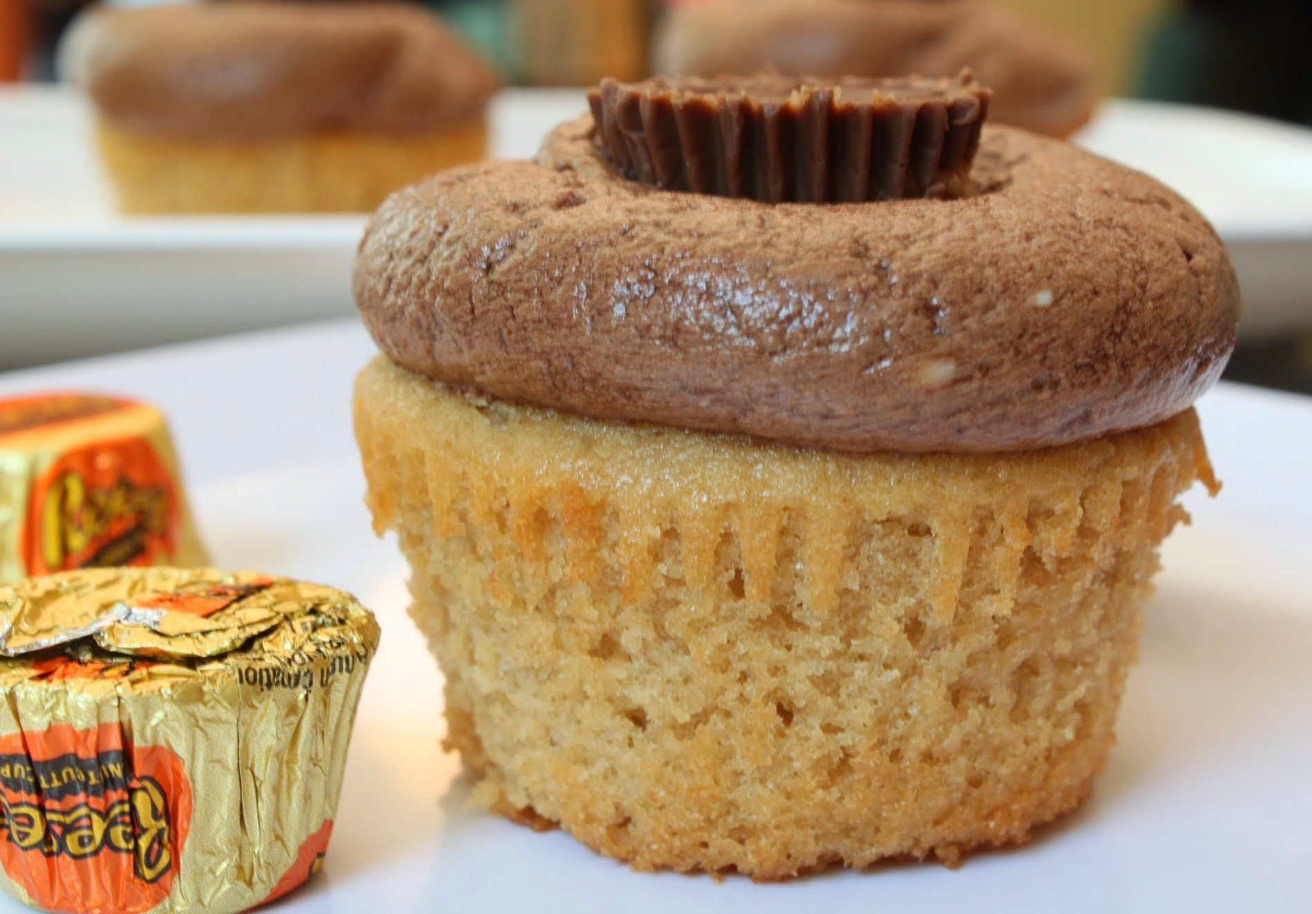 Double Peanut Butter Cup Cupcakes