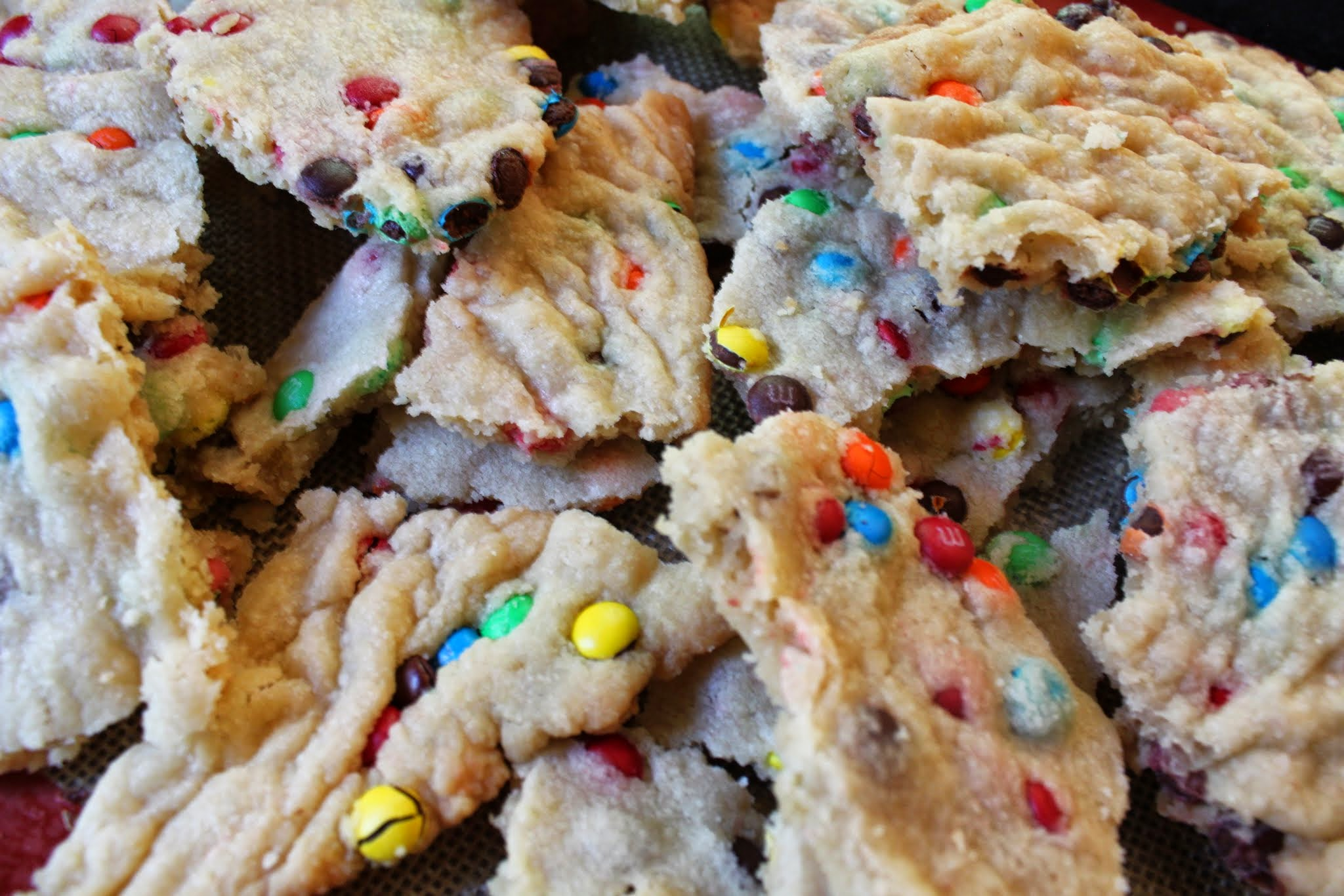 M & M Cookie Bark