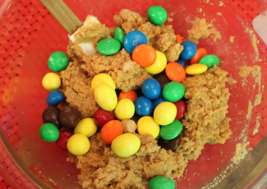Mega M & M Peanut Butter Bars