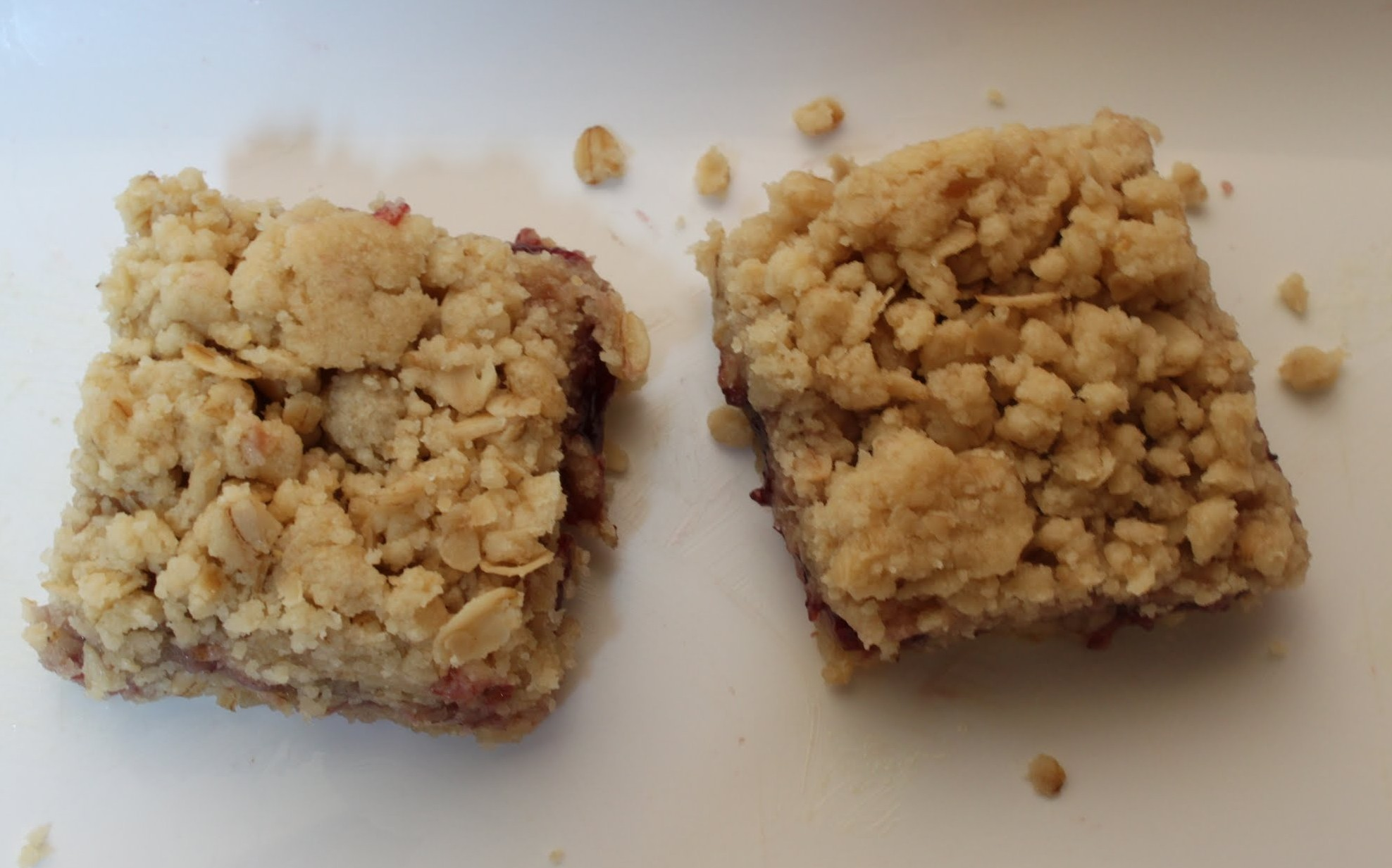 Raspberry Crumb Bars | Just About Baked
