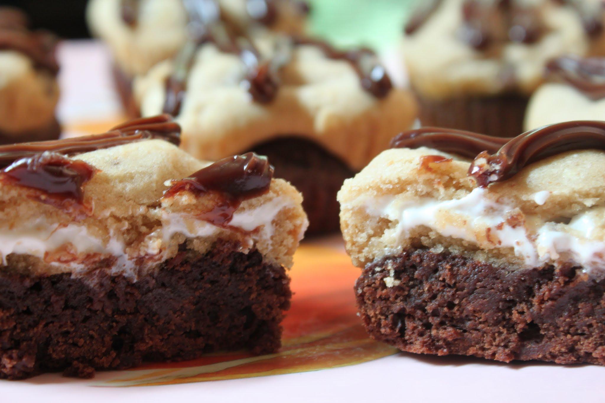 S'more Brownie Cupcakes
