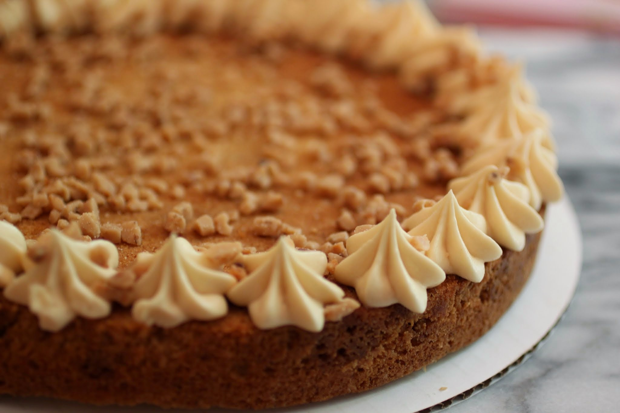 Butterscotch Cookie Cake