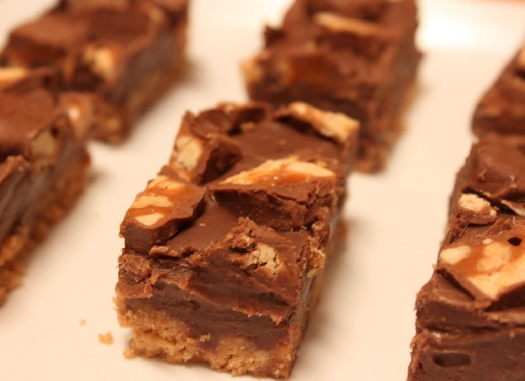 Nutty Snickers Fudge