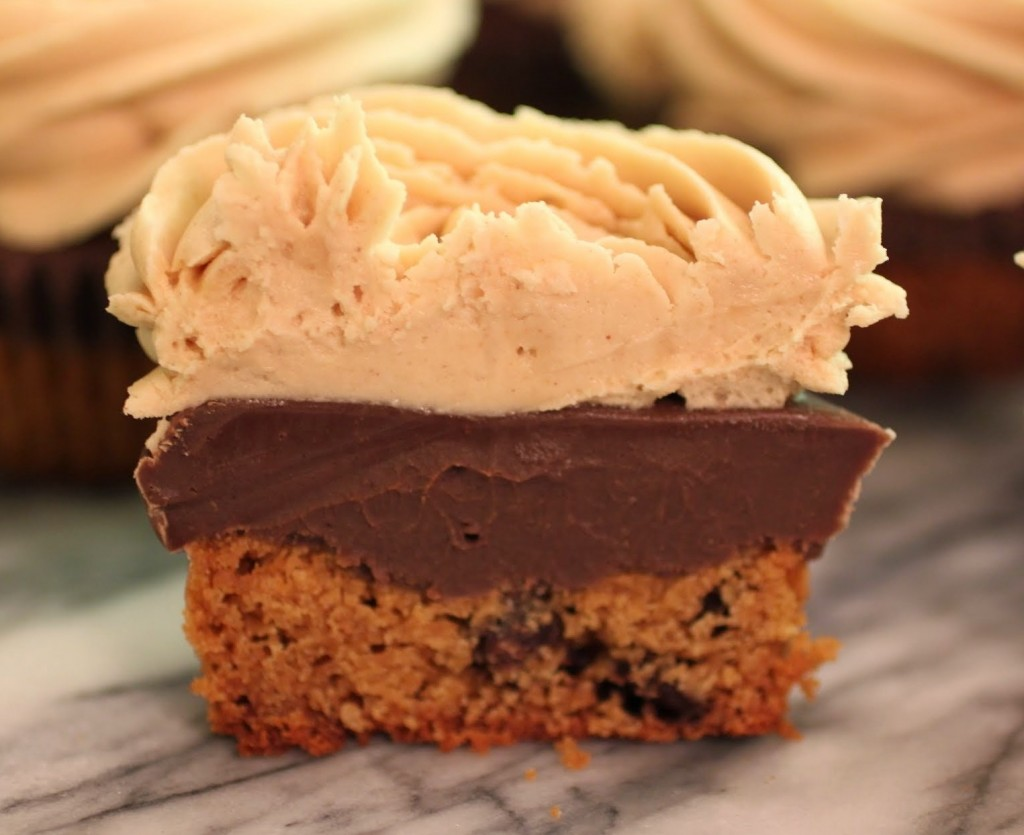 Peanut Butter Fudge Cookie Cupcakes