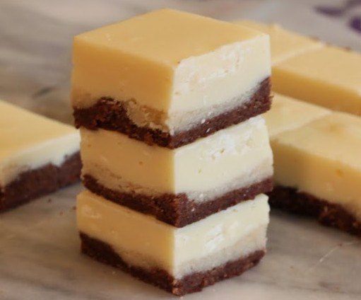 Black And White Cookie Dough Fudge Bars