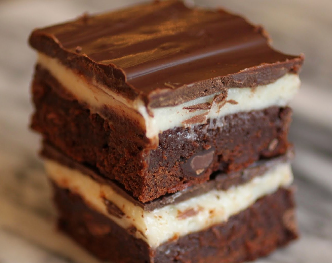 Triple Chocolate Cheese-Filled Brownies