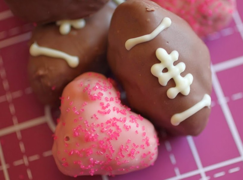 Footballs And Hearts (Brownie Truffles!)