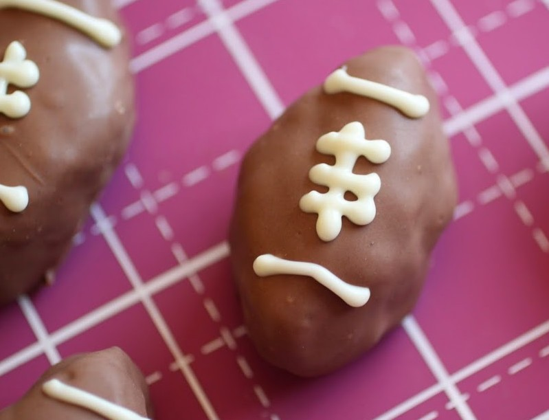 Footballs and Hearts (Brownie Truffles)