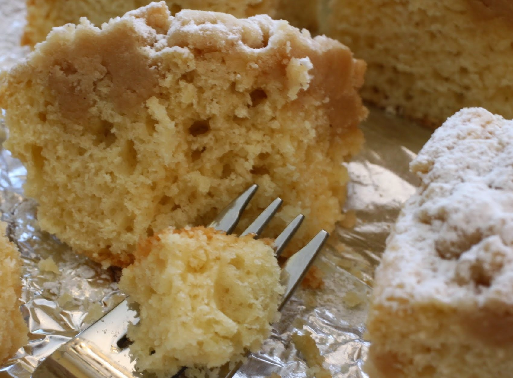 Lighter Crumb Cake