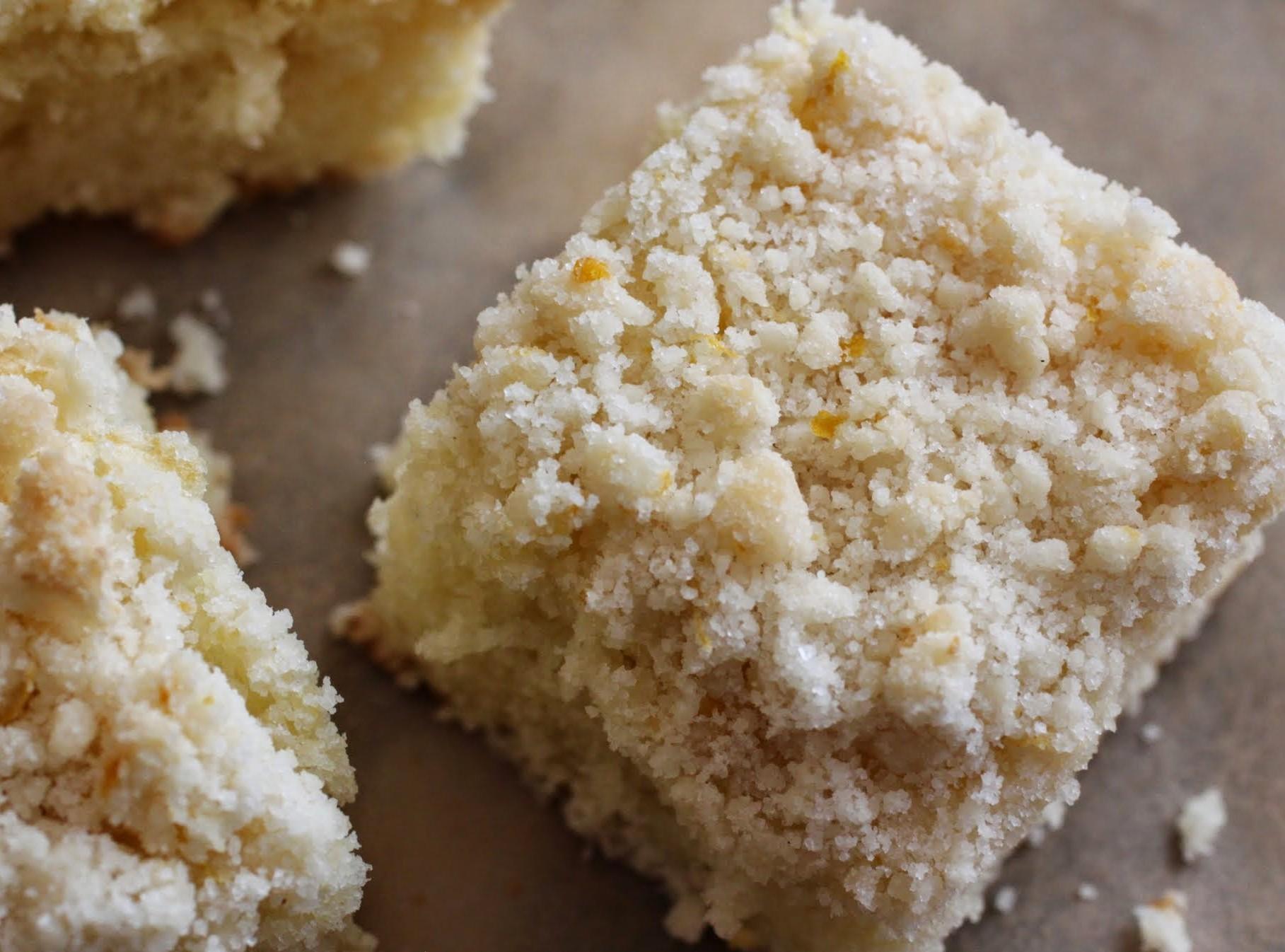 Meyer Lemon Crumb Cake