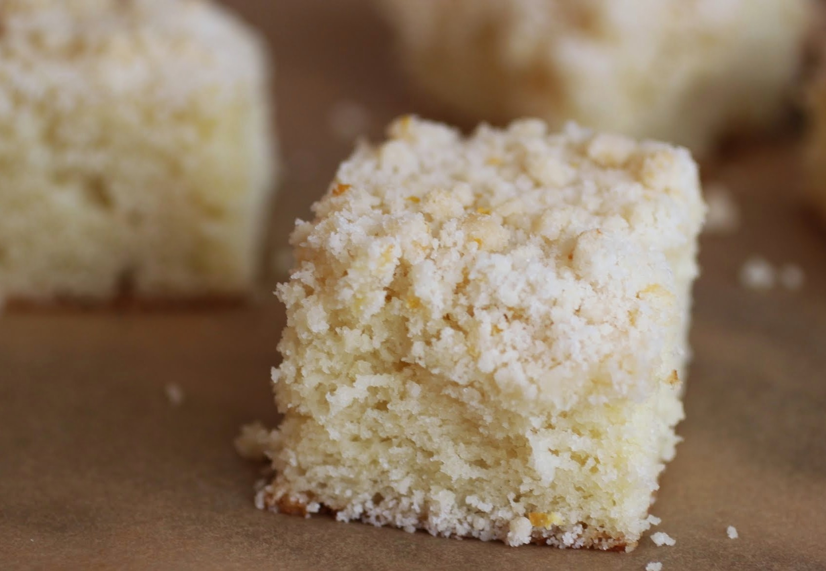 Meyer Lemon Crumb Cake