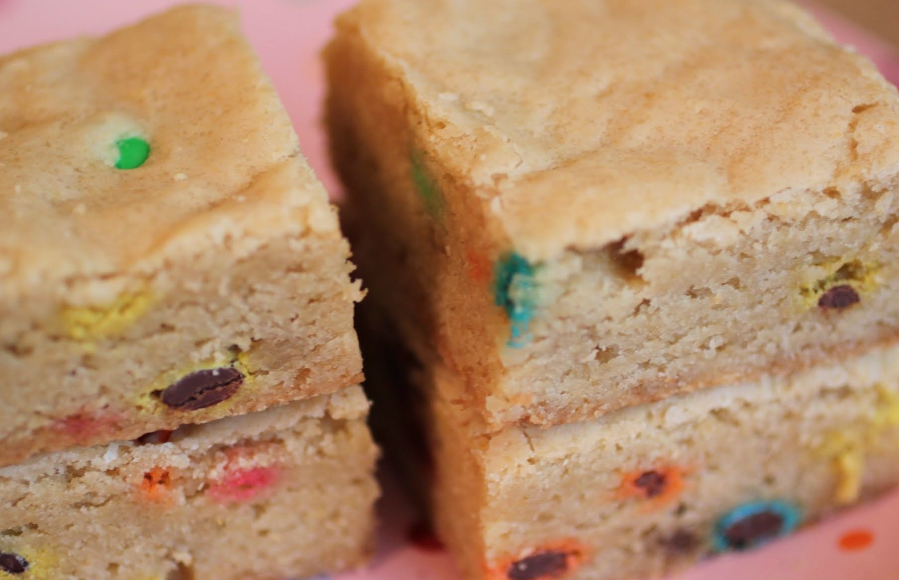 Browned Butter M & M Blondies