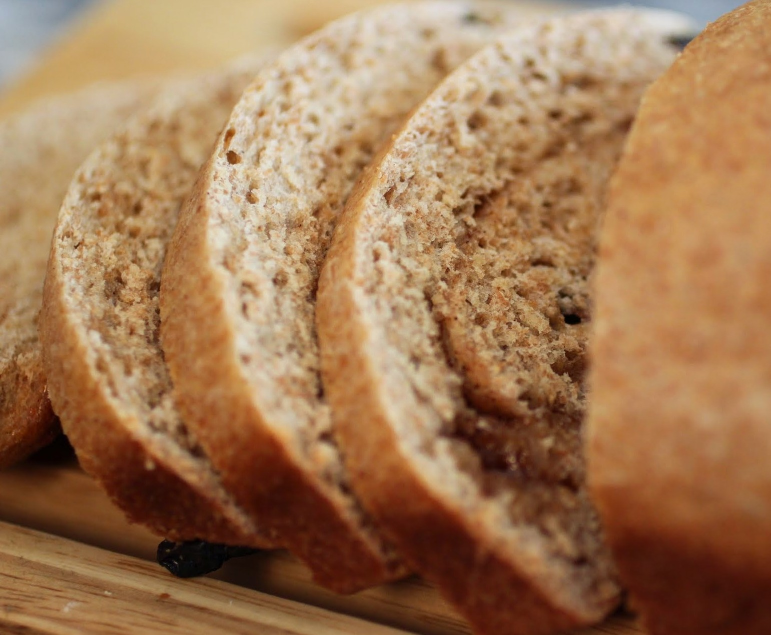 Whole Wheat Cinnamon Raisin Bread