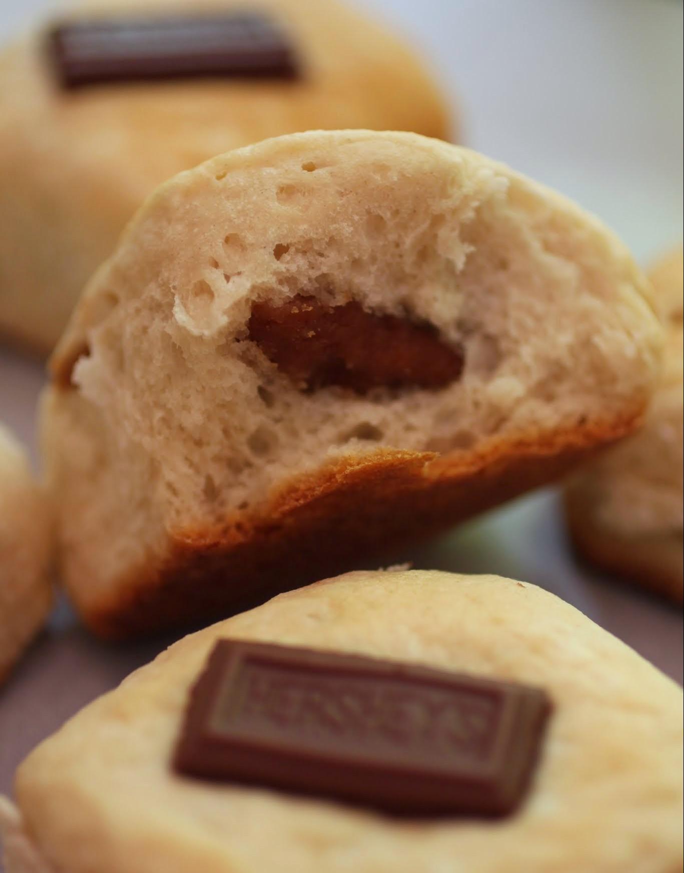 Peanut Butter-Stuffed Rolls