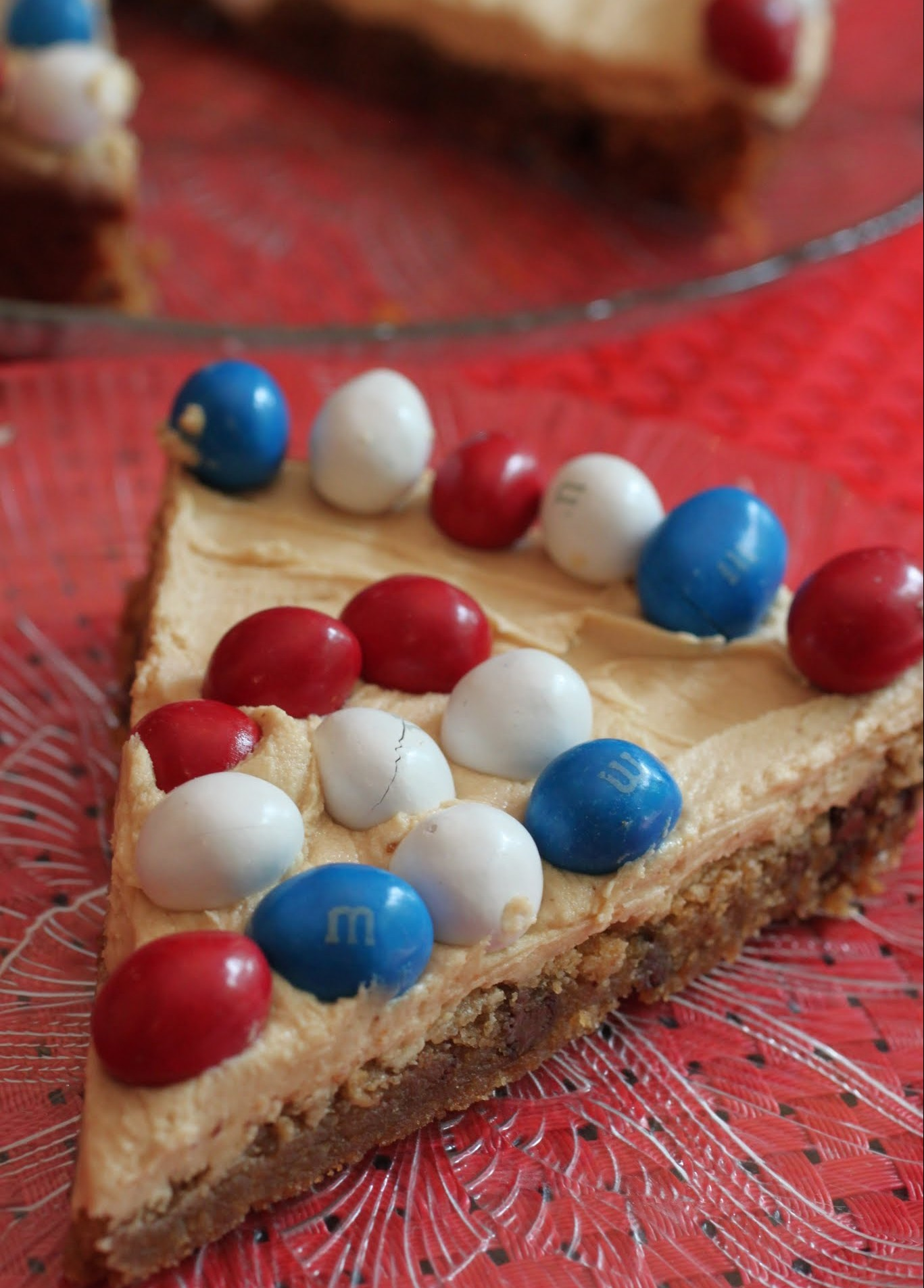 Patriotic Peanut M & M Cookie Cake