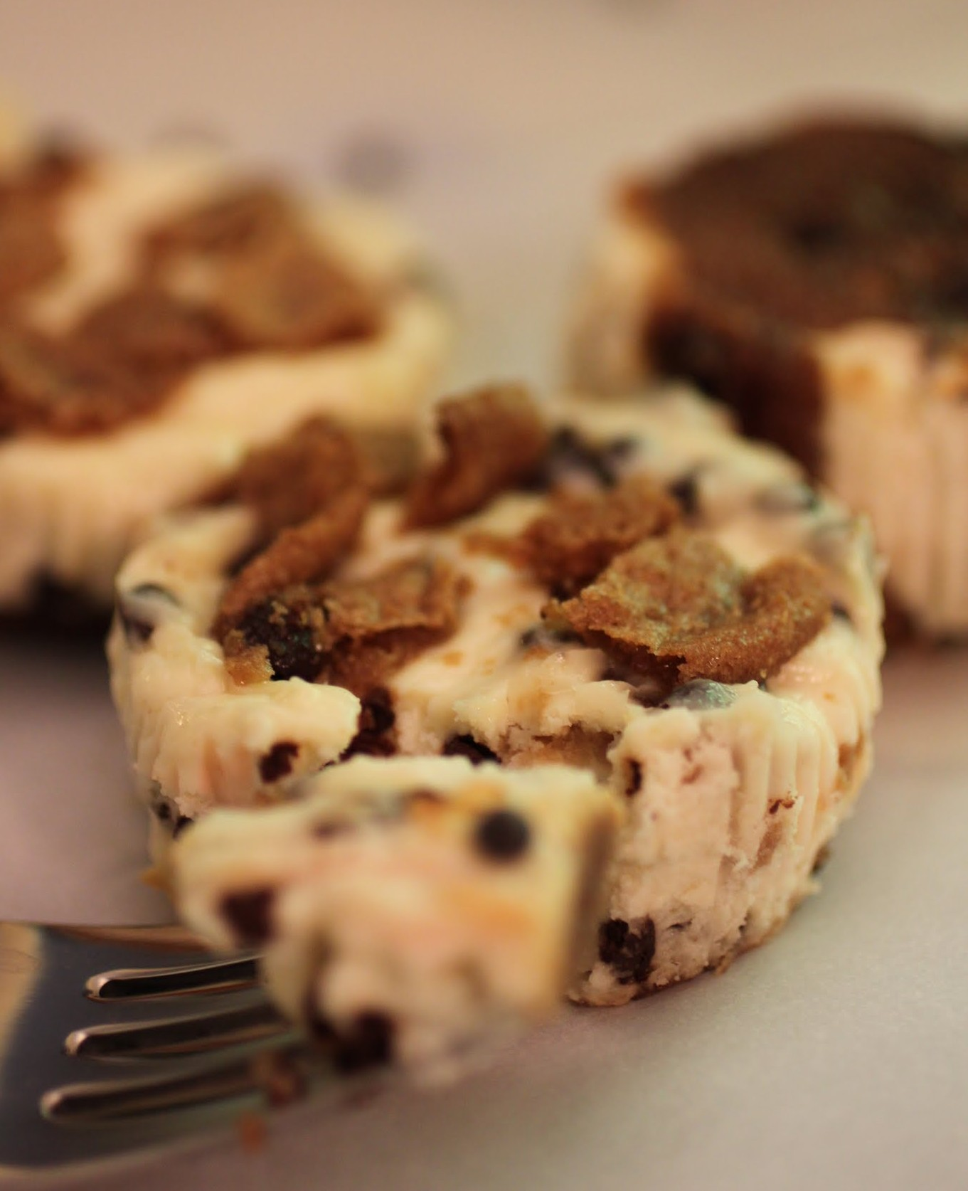 Chocolate Chip Cookie Chip Mini-Cheesecakes