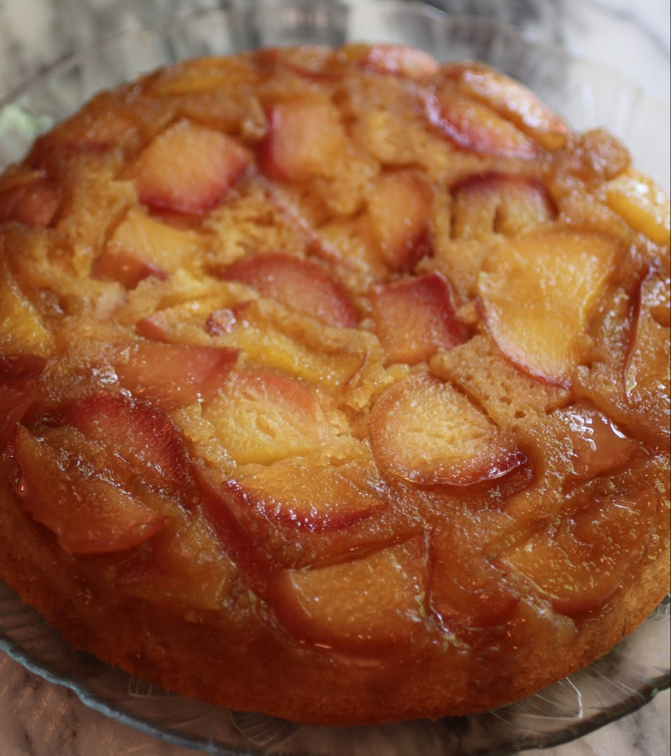 White Nectarine Upside-Down Cake