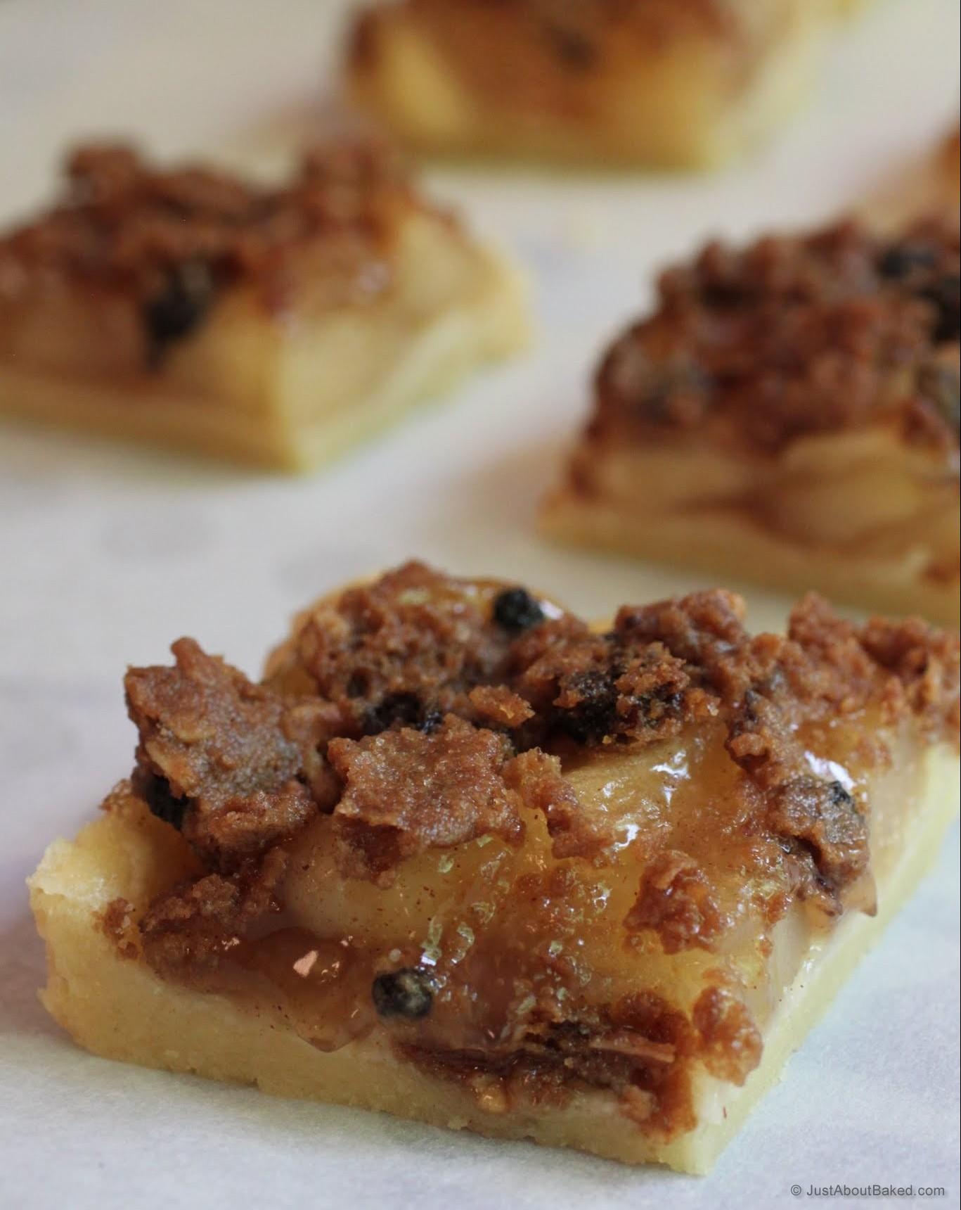 Oatmeal Raisin Cookie Chips Apple Slab Pie