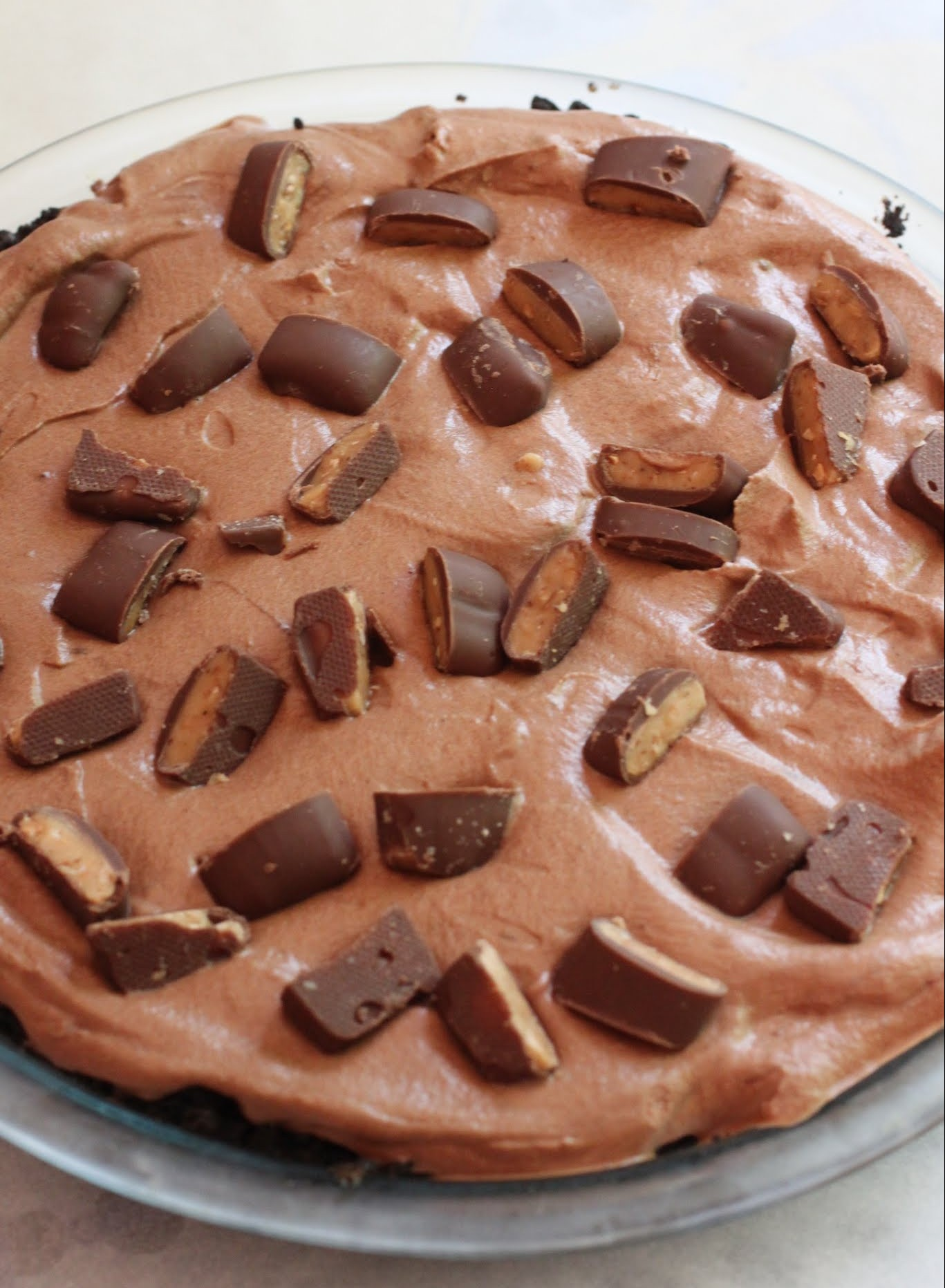 Mocha Mousse Heath Bar Pie