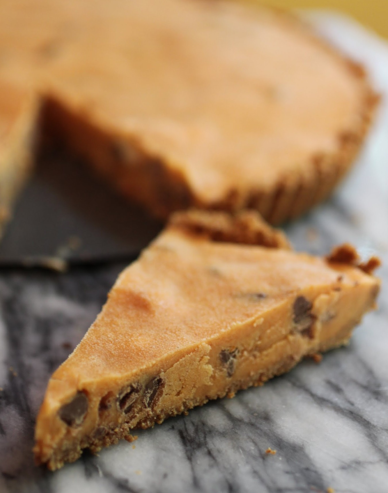 Frozen Pumpkin Chocolate Chip Tart
