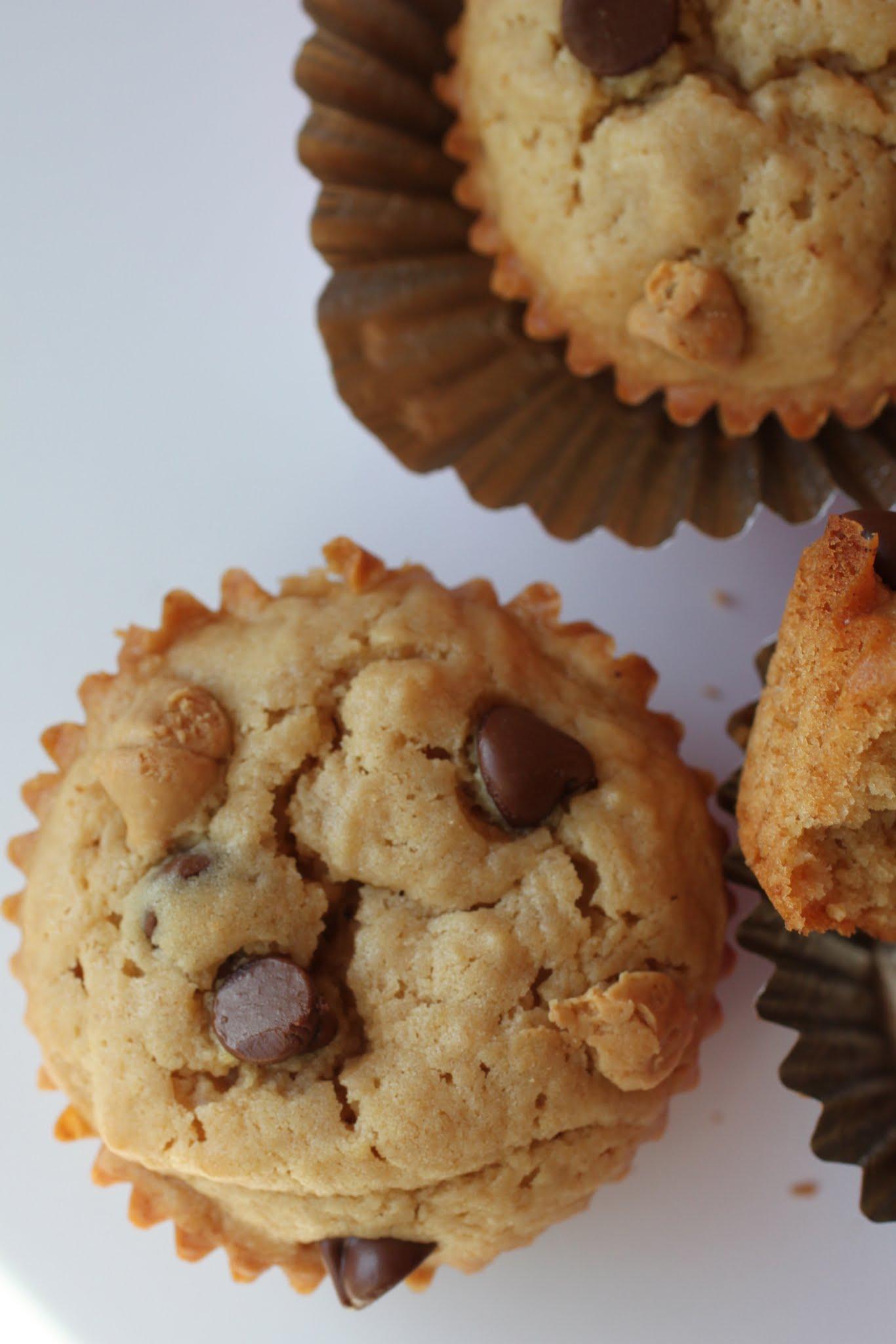 Peanut Butter Blondie Muffins
