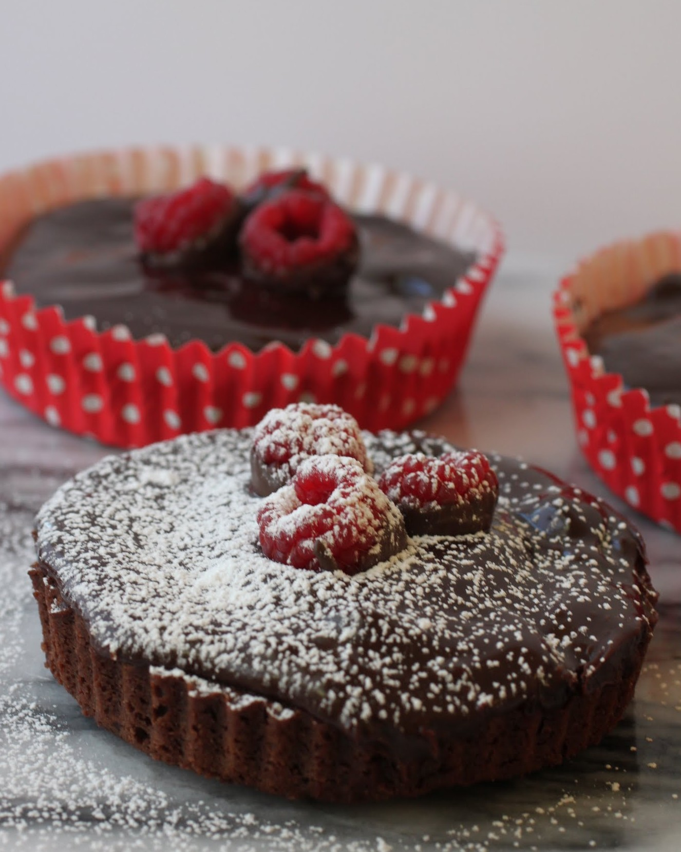Chocolate Raspberry Ganache Brownie Mini-Torte (GF)