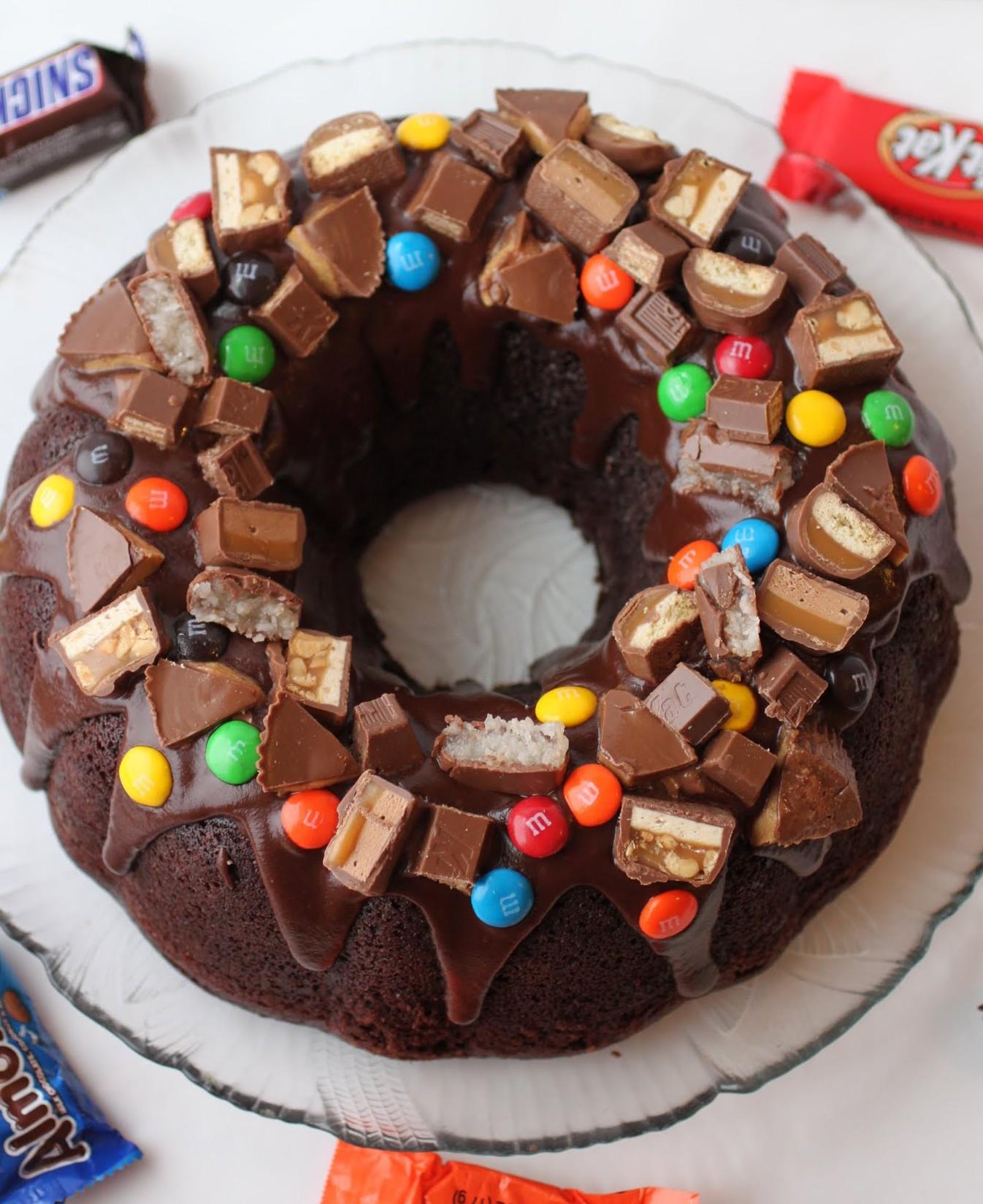 Candy Bar Chocolate Bundt Cake