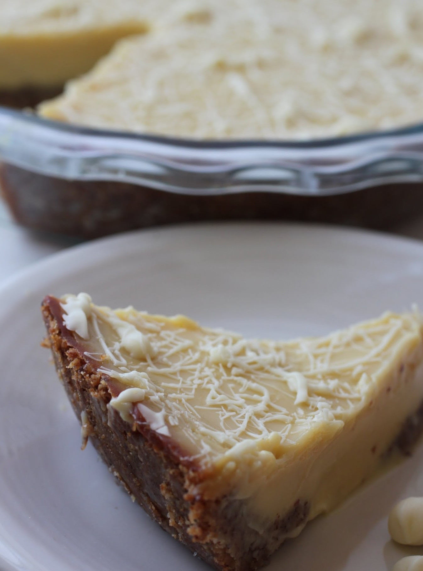 Key Lime Pie with White Chocolate Almond Crust (GF)