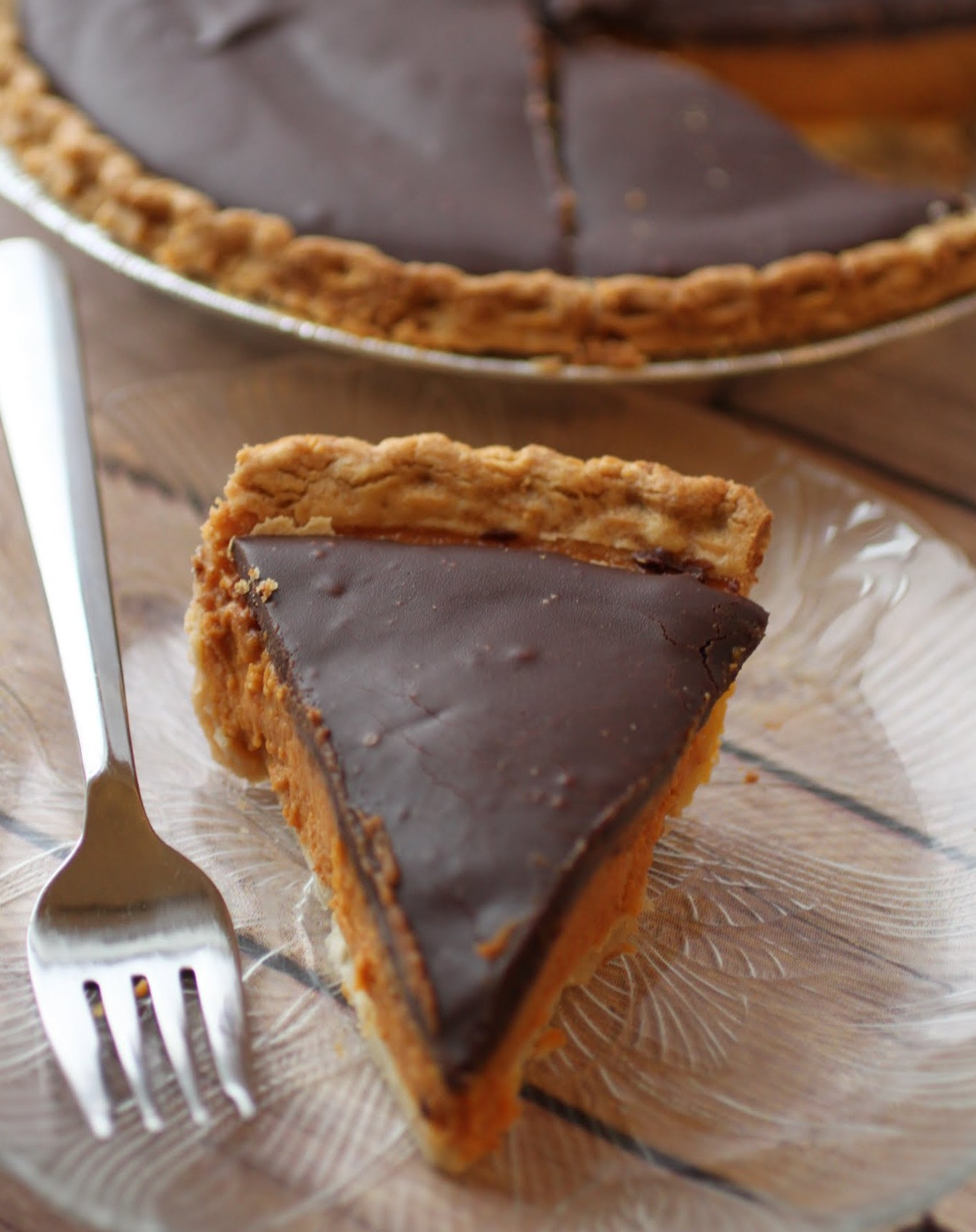 Pumpkin Ganache Pie