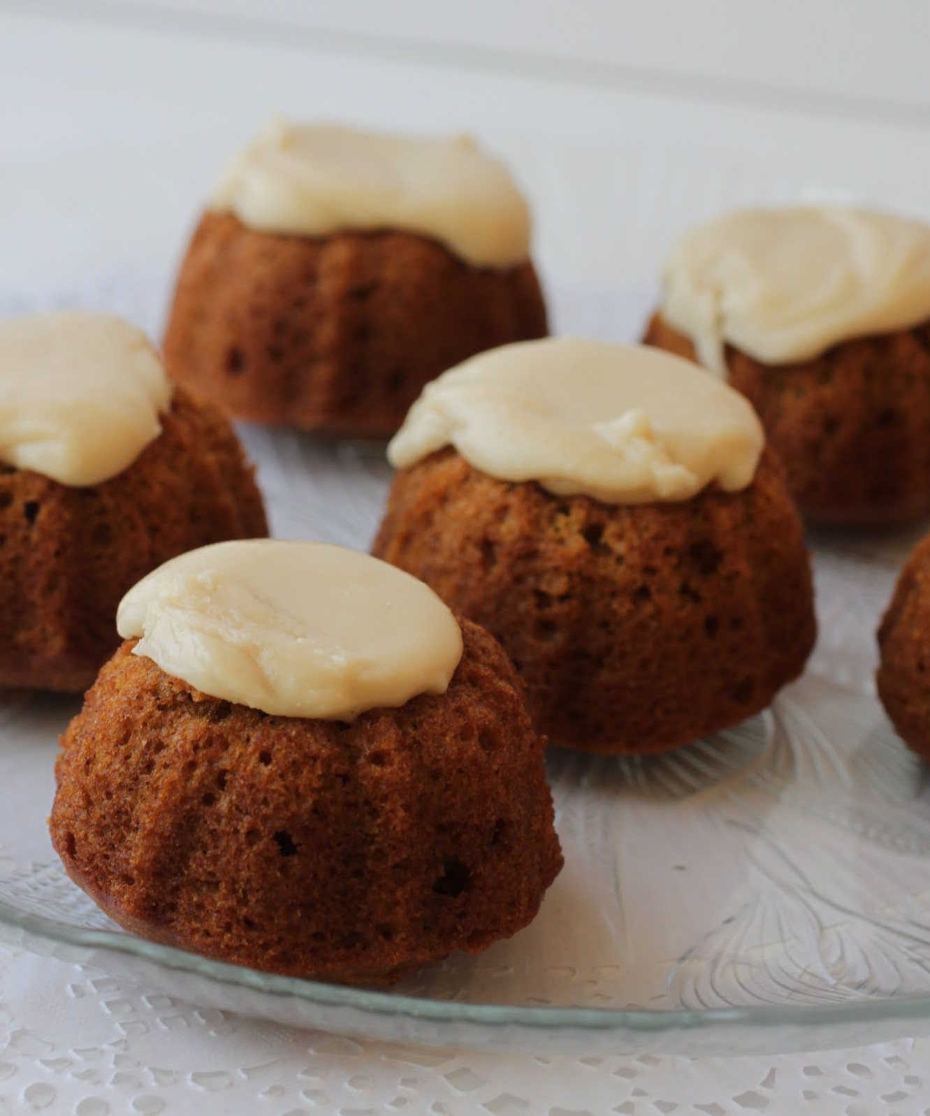 Pumpkin Mini-Bundts with Maple Icing (Gluten-Free!)