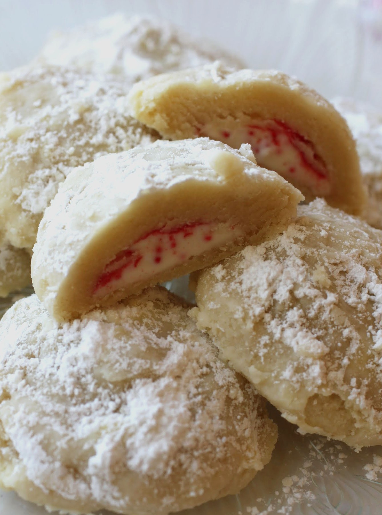 Candy Cane Snowdrift Cookies