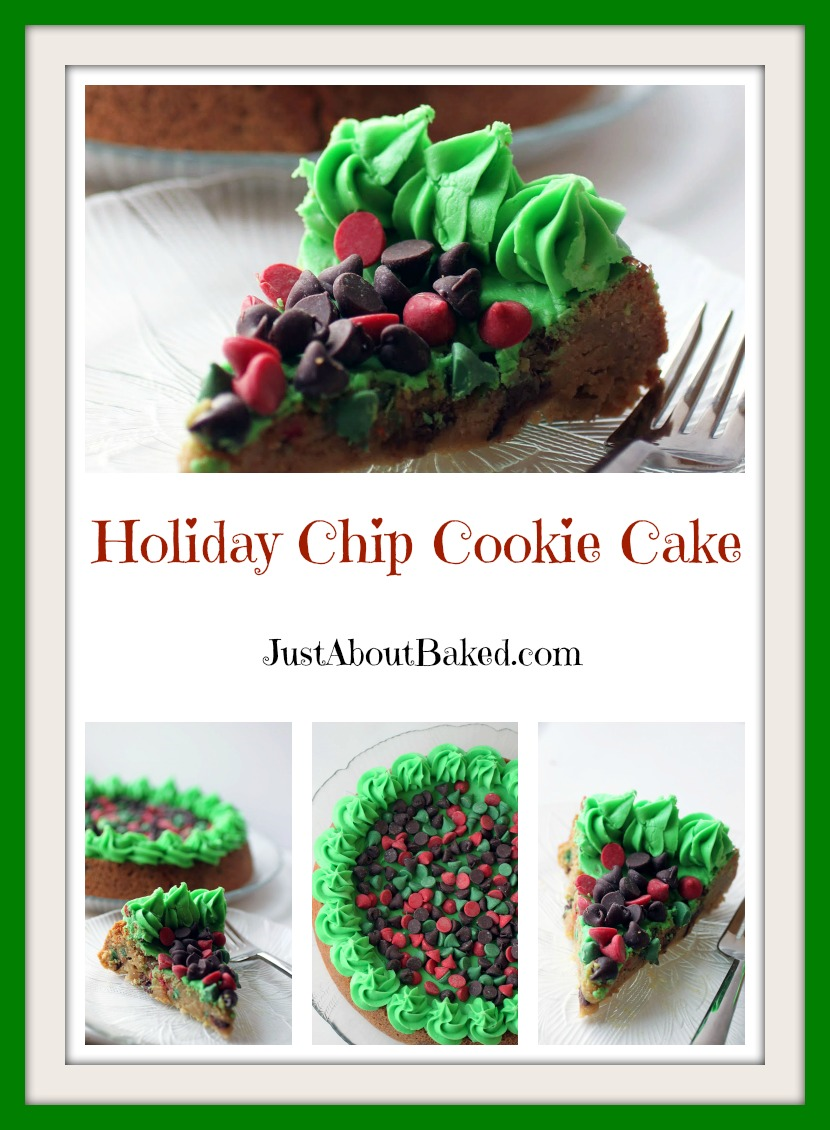 Holiday Chip Cookie Cake
