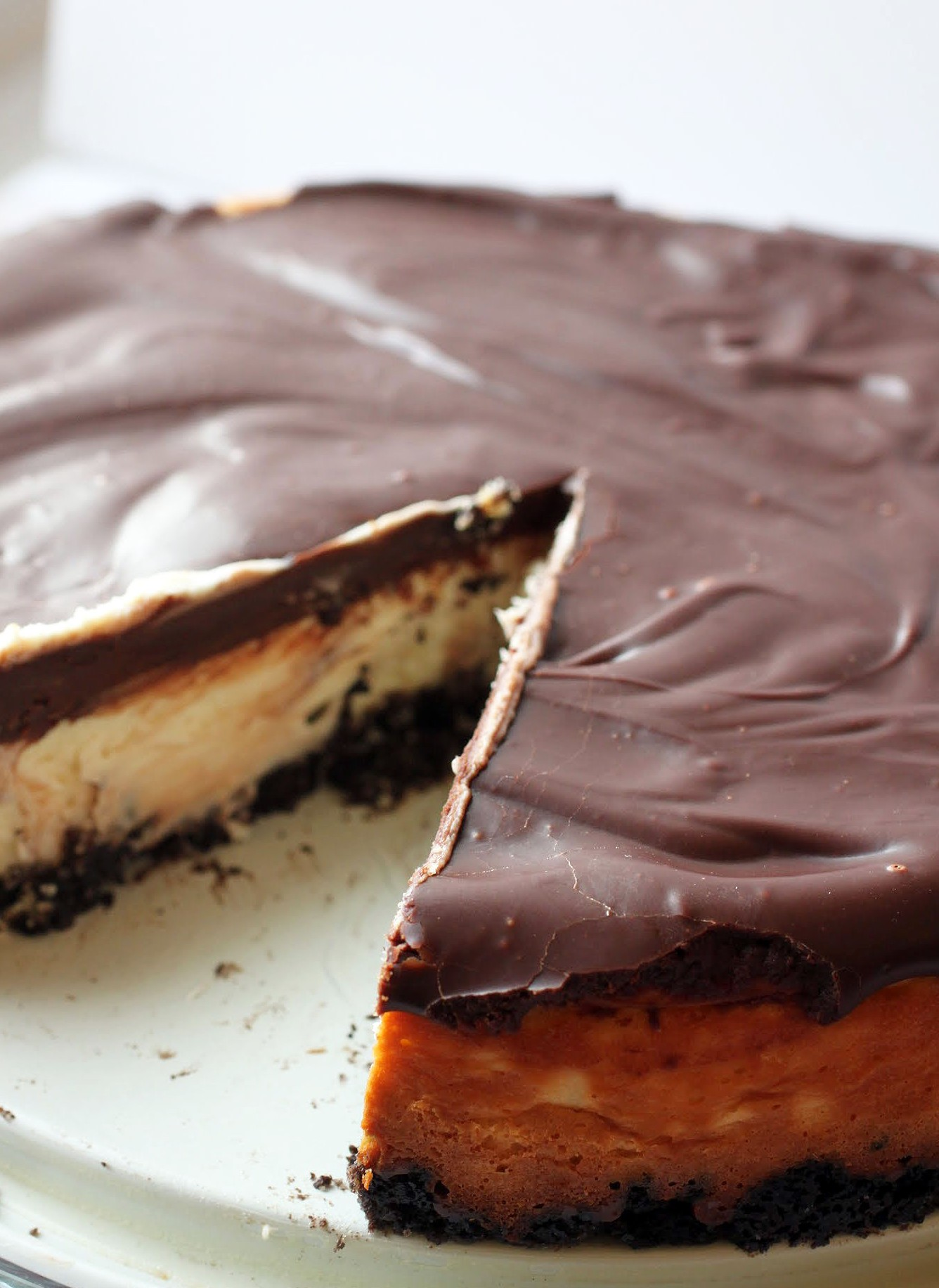 Ganache-Covered Cheesecake