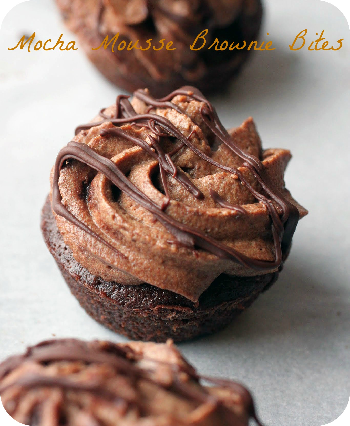 Mocha Mousse Brownie Bites