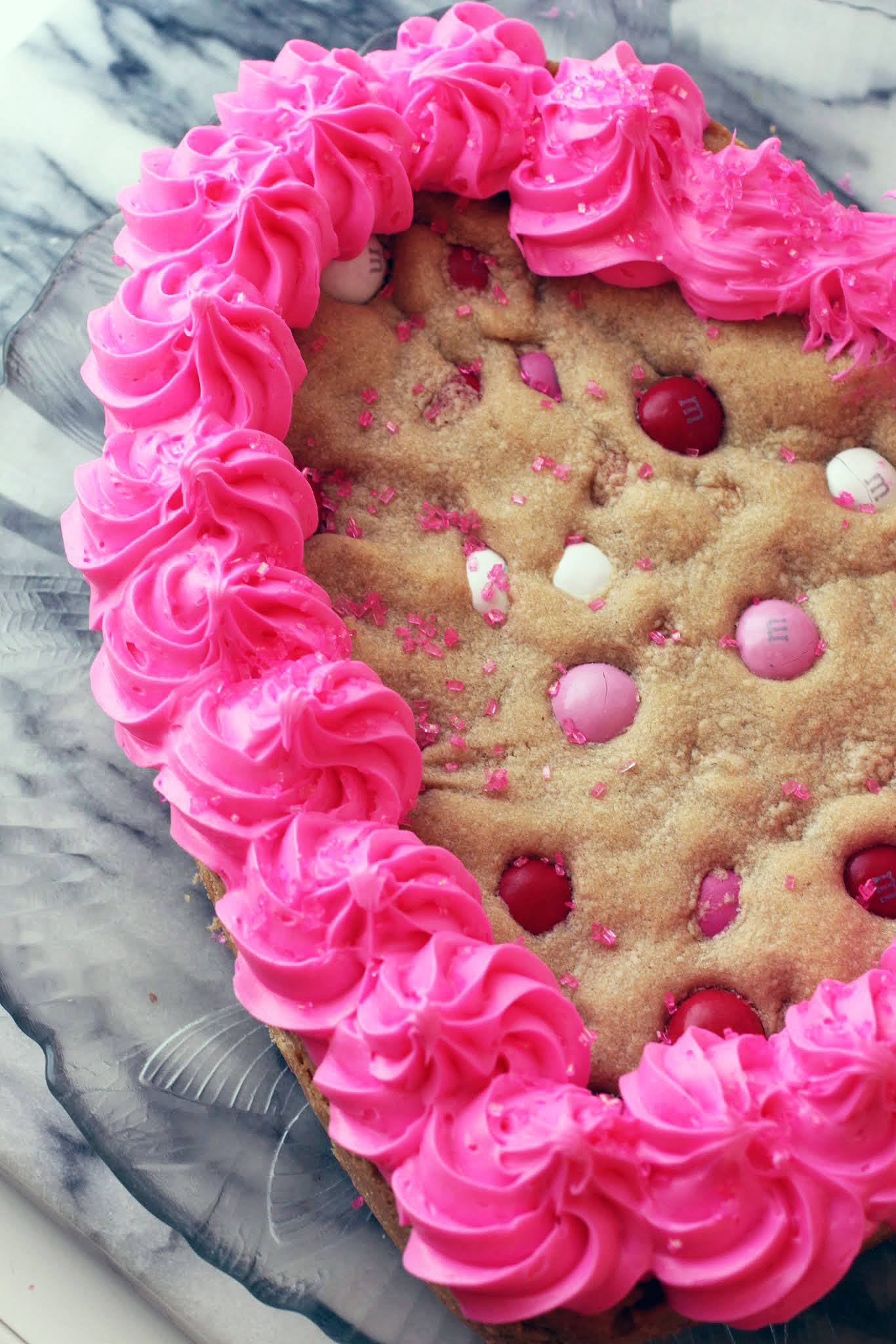 Peanut Butter Heart Cookie Cake