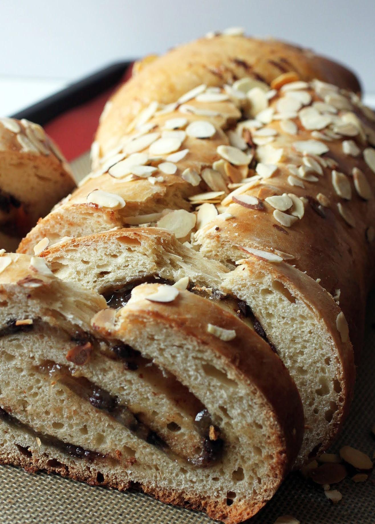 Almond Chocolate Swirl Bread
