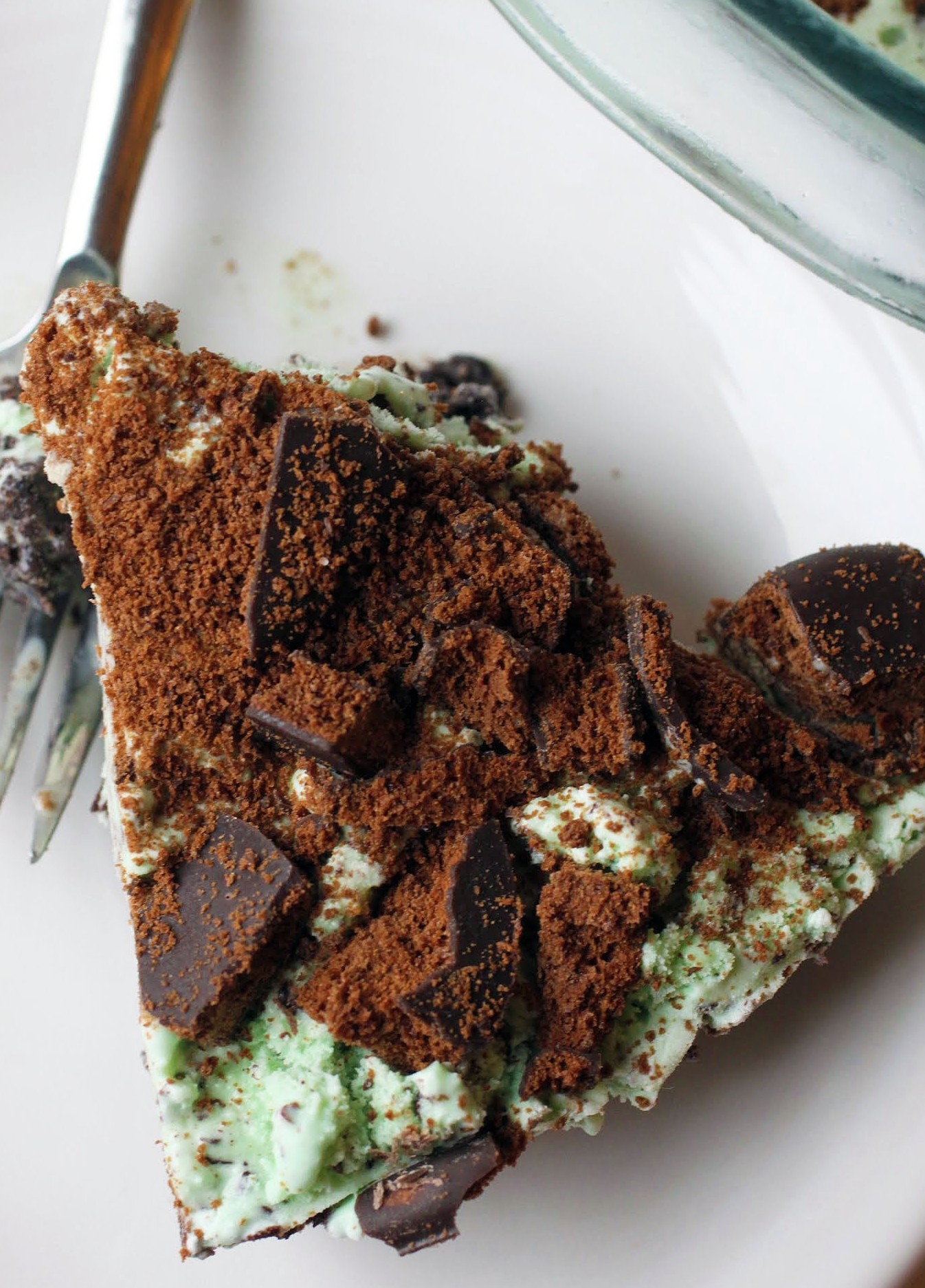 Thin Mint Frozen Grasshopper Pie