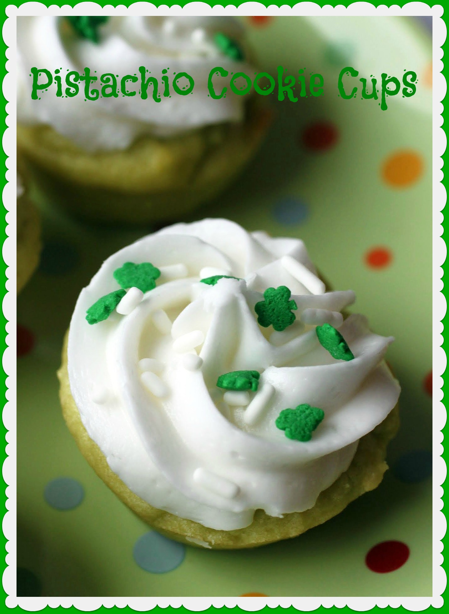 Pistachio Cookie Cups
