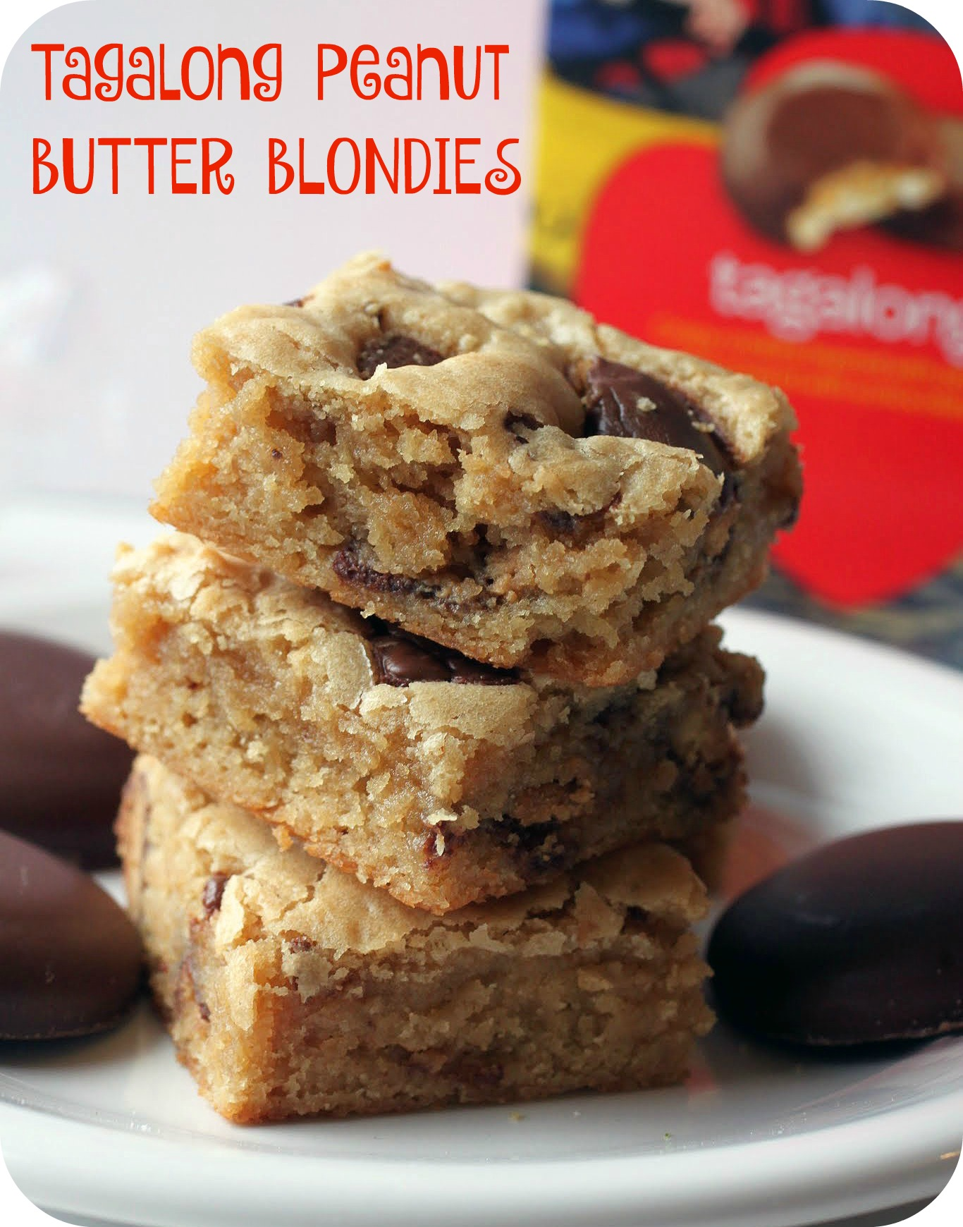 Tagalong Peanut Butter Blondies