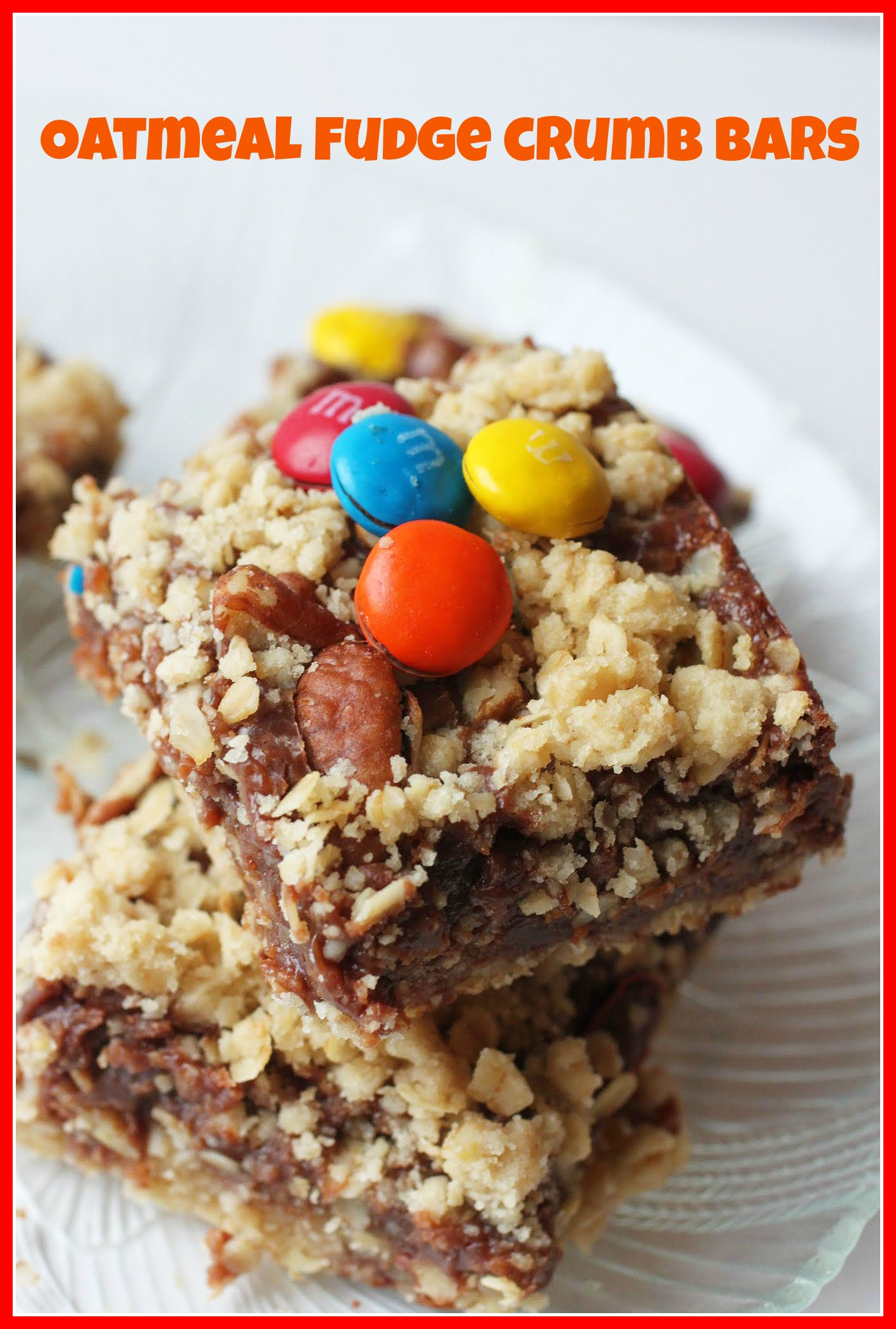Oatmeal Fudge Crumb Bars