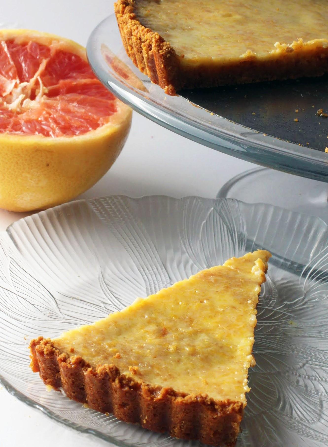 Ruby Grapefruit Tart