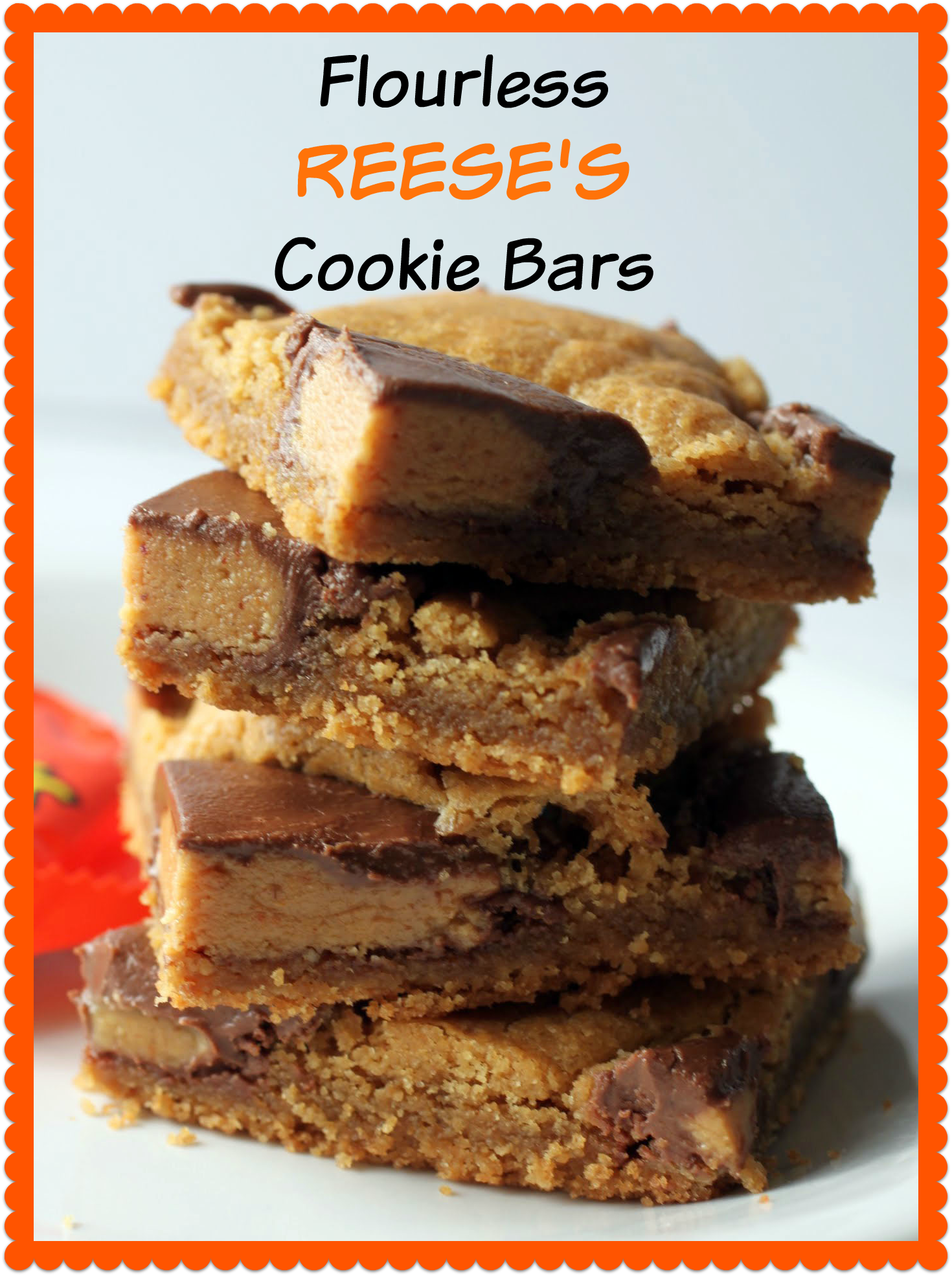 Flourless Reese's Cookie Bars