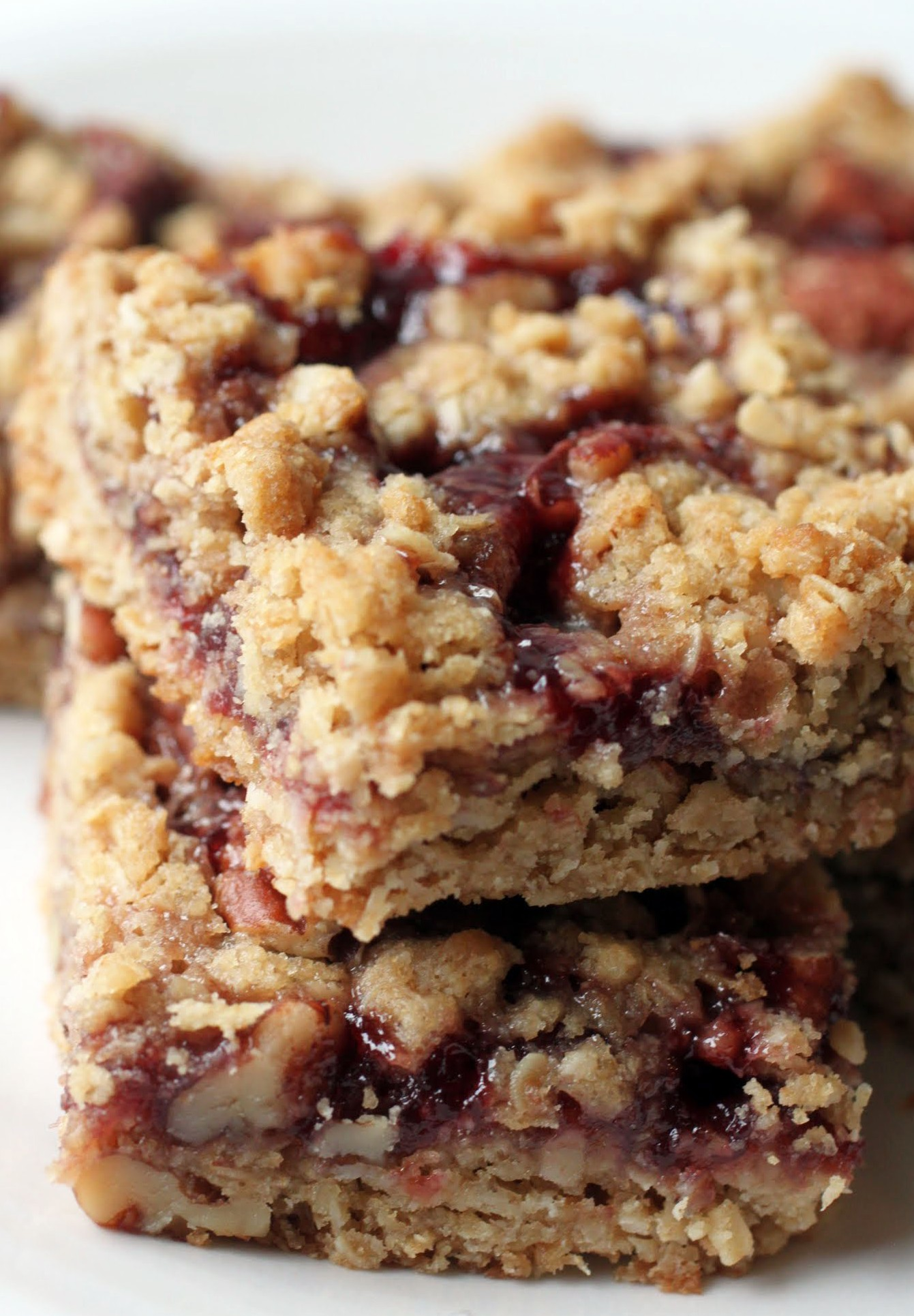 Raspberry Pecan Crumb Bars (GF)