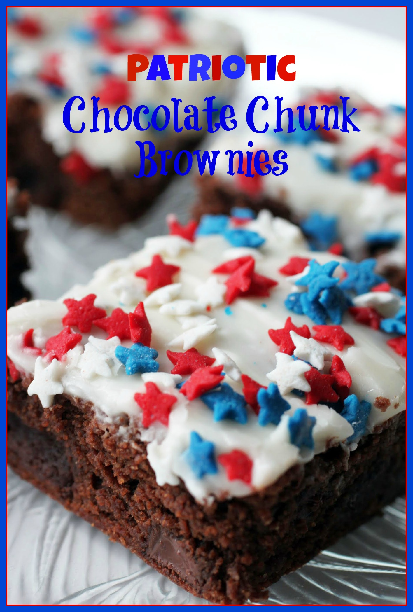 Patriotic Chocolate Chunk Brownies