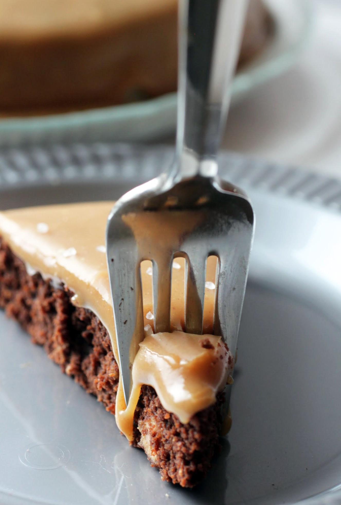 Peanut Butter Caramel Brownie Cake