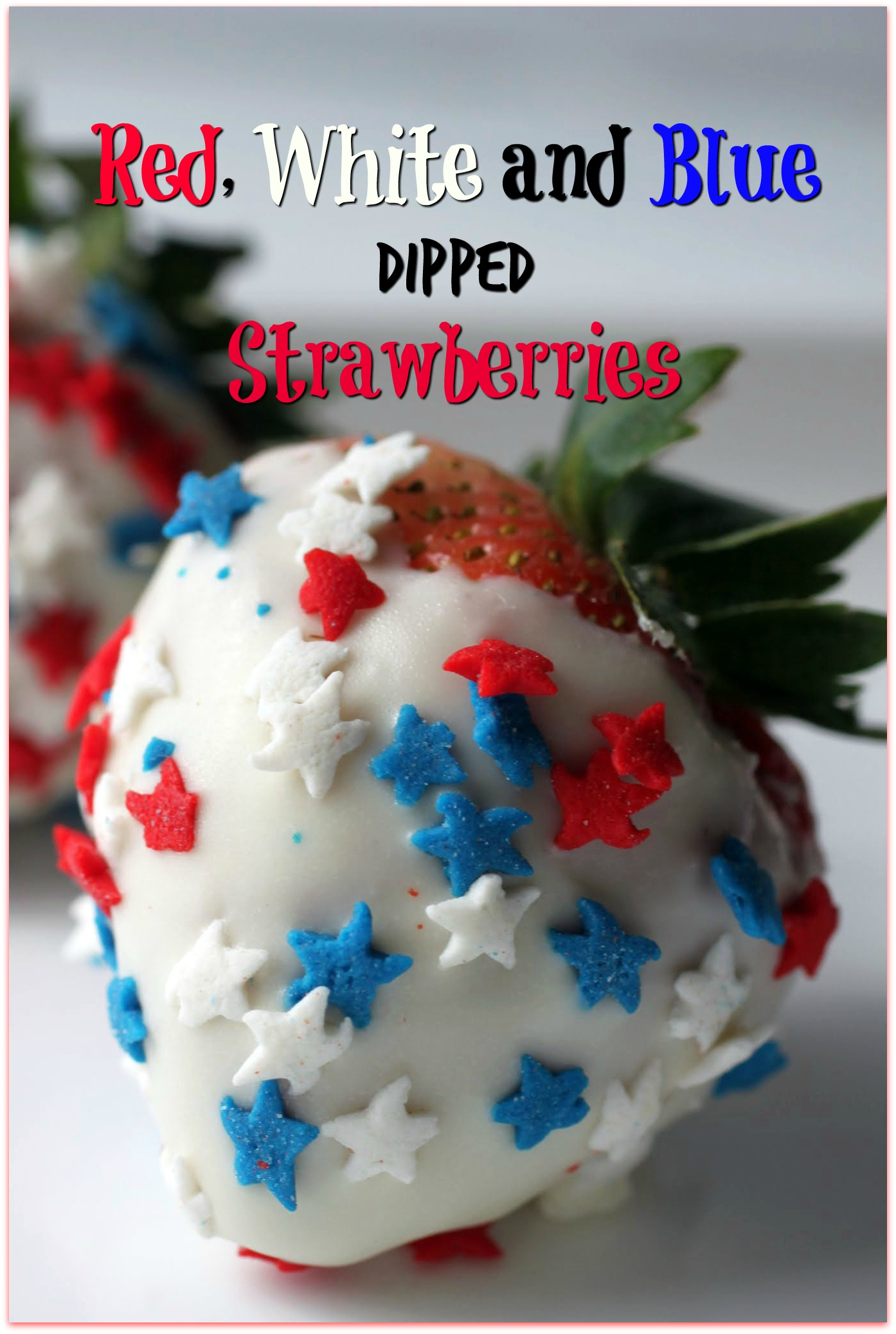 Red, White and Blue Dipped Strawberries